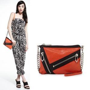 Botkier Cruz Zip Colorblock Leather Crossbody Bag